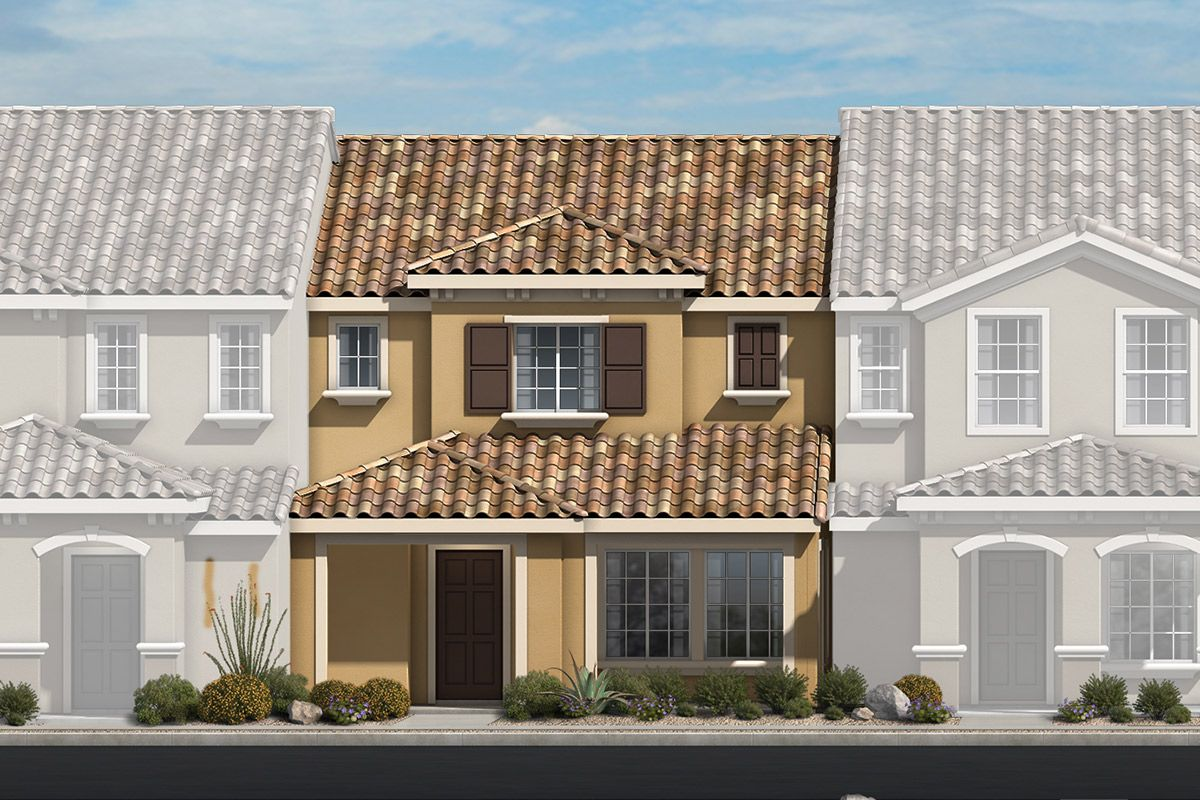 Exterior featured in the Plan 1366 Modeled By KB Home in Las Vegas, NV