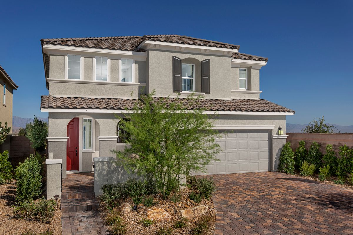 Exterior featured in the Plan 3066 Modeled By KB Home in Las Vegas, NV