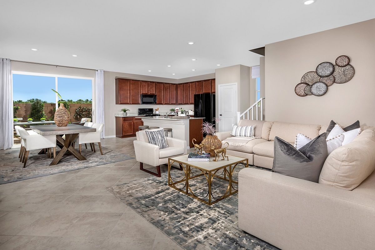 Living Area featured in the Plan 2114 Modeled By KB Home in Las Vegas, NV