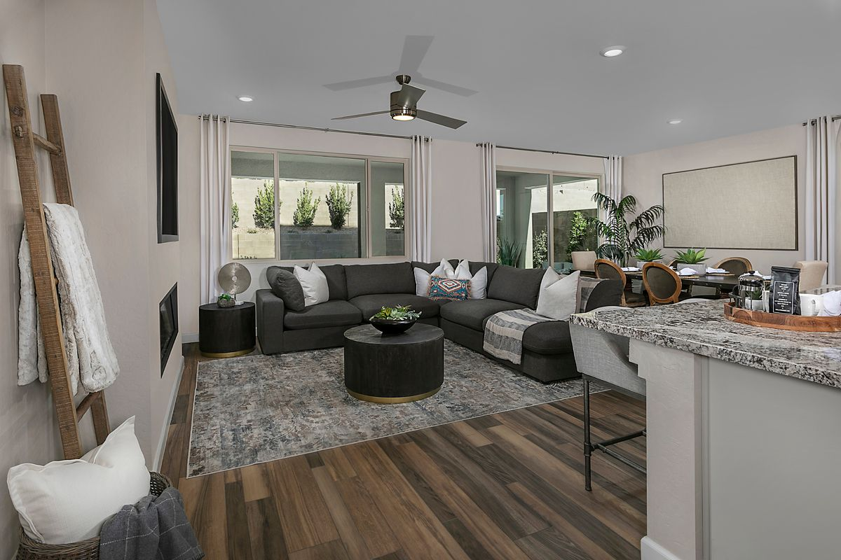 Living Area featured in the Plan 2466 Modeled By KB Home in Las Vegas, NV