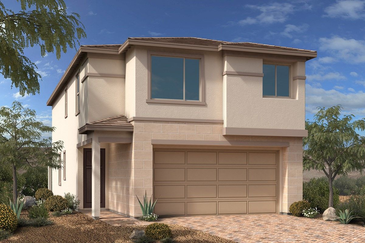 Exterior featured in the Plan 2070 By KB Home in Las Vegas, NV