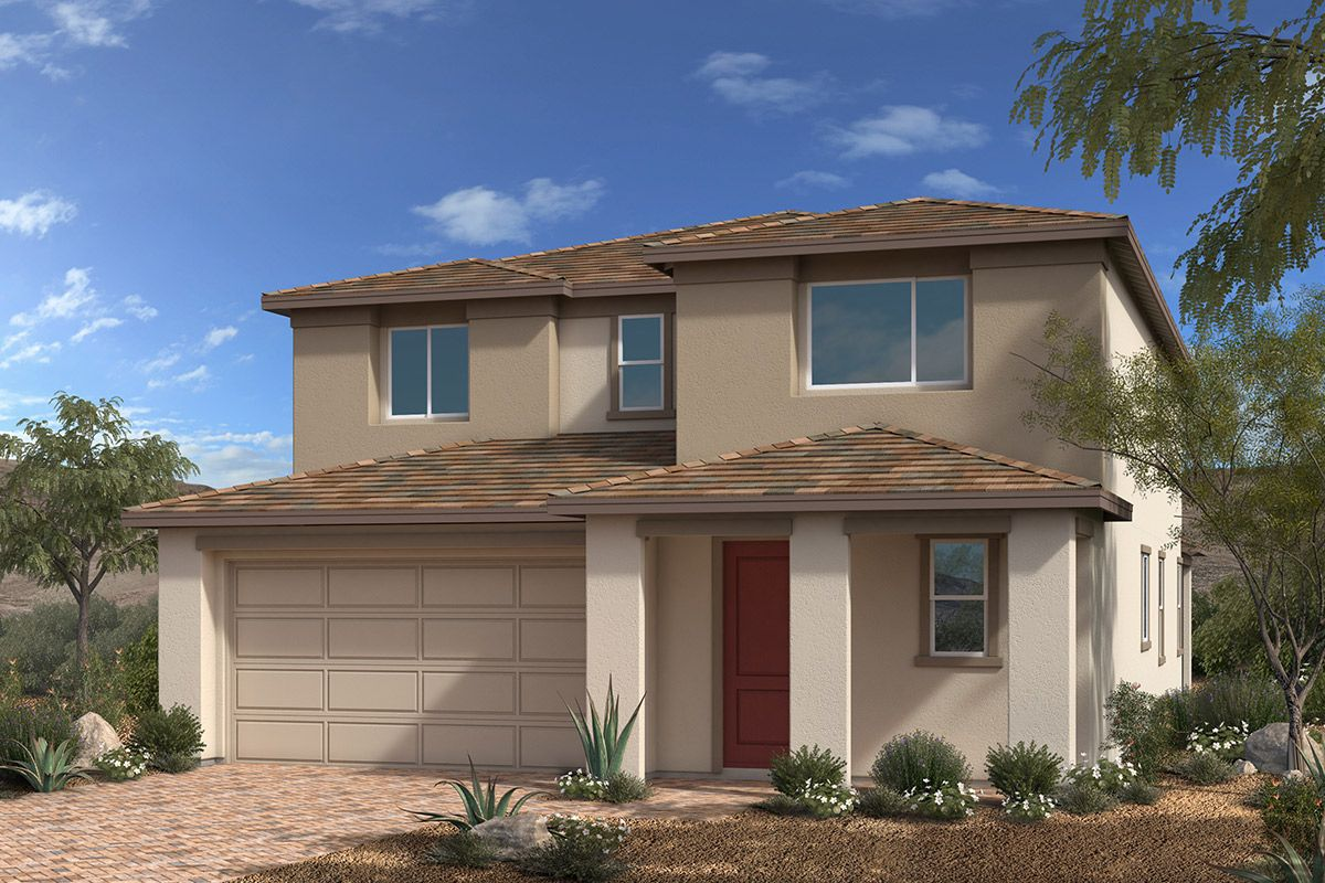 Exterior featured in the Plan 2993 By KB Home in Las Vegas, NV