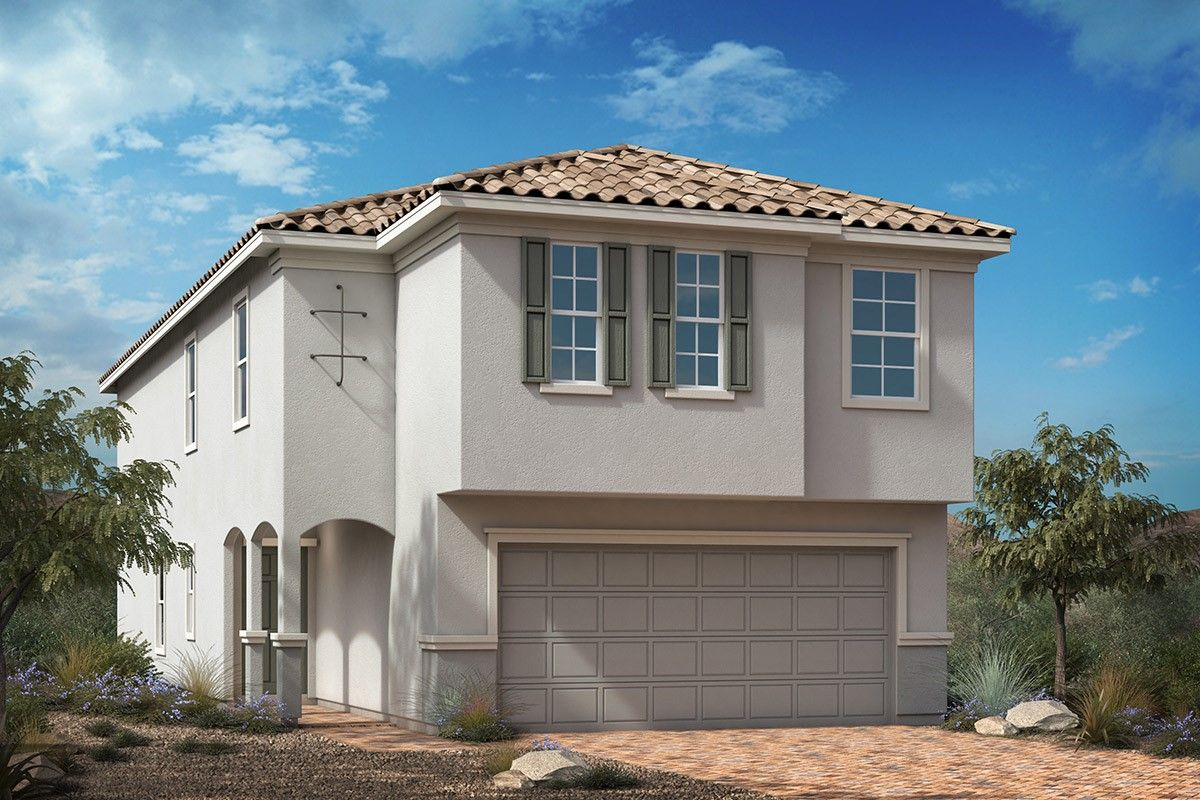 Exterior featured in the Plan 2469 Modeled By KB Home in Las Vegas, NV