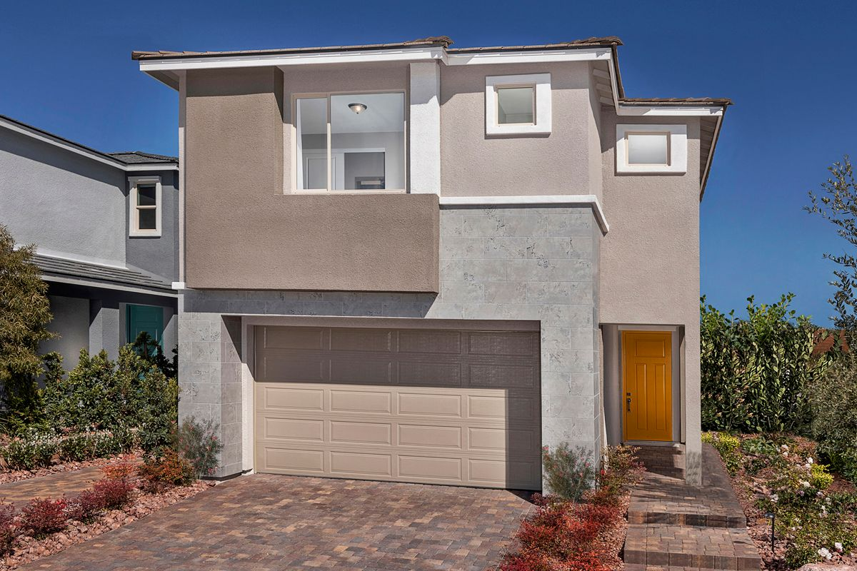 Exterior featured in the Plan 2466 Modeled By KB Home in Las Vegas, NV
