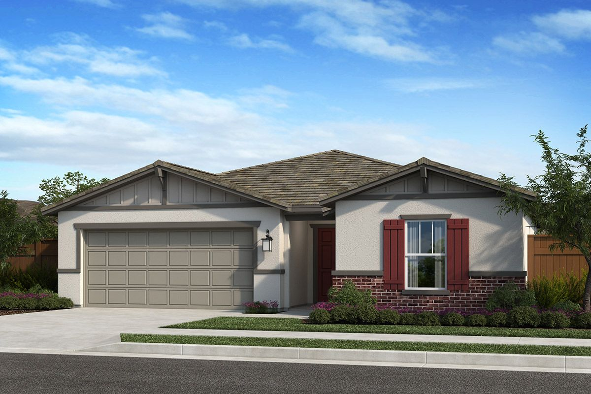 Exterior featured in the Plan 1384 By KB Home in Fresno, CA