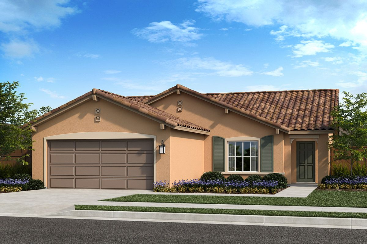 Exterior featured in the Plan 1449 Modeled By KB Home in Fresno, CA