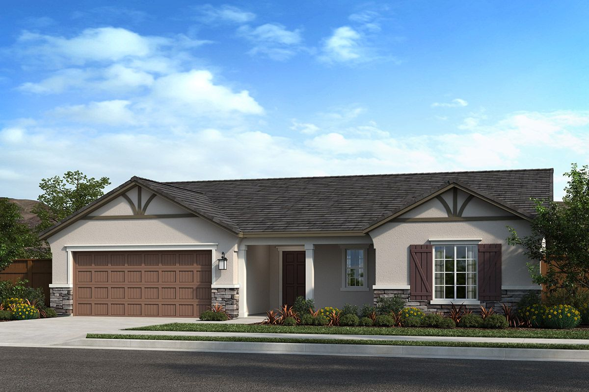 Exterior featured in the Plan 1860 Modeled By KB Home in Fresno, CA