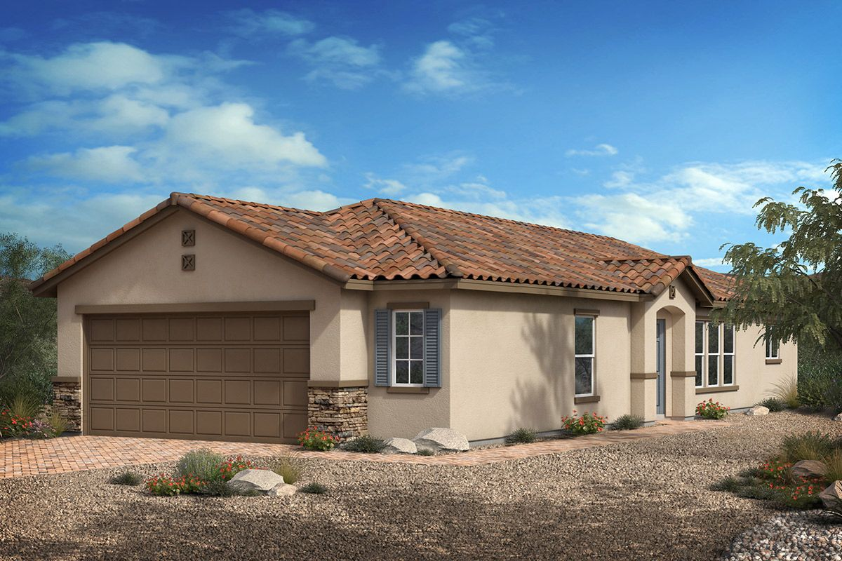 Exterior featured in the Plan 1203 Modeled By KB Home in Las Vegas, NV