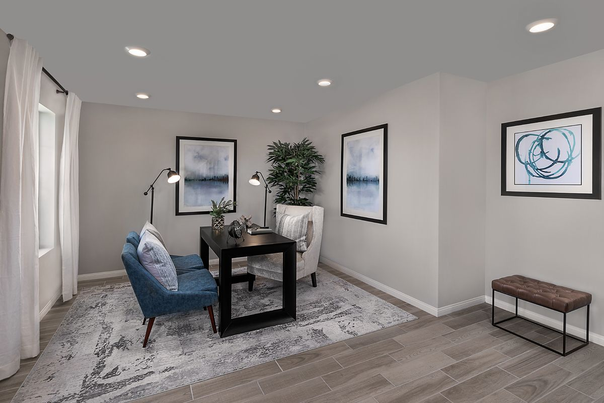 Living Area featured in the Plan 1740 By KB Home in Ventura, CA