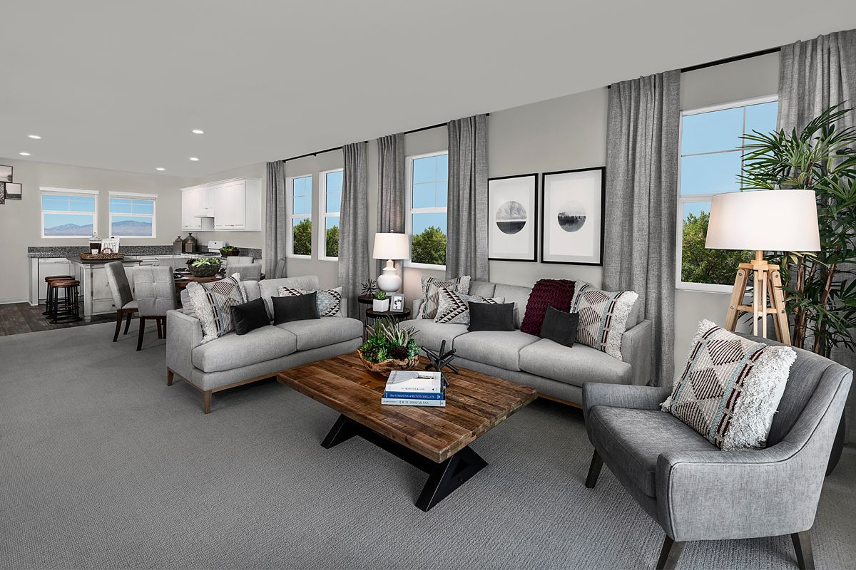 Living Area featured in the Plan 1805 Modeled By KB Home in Ventura, CA
