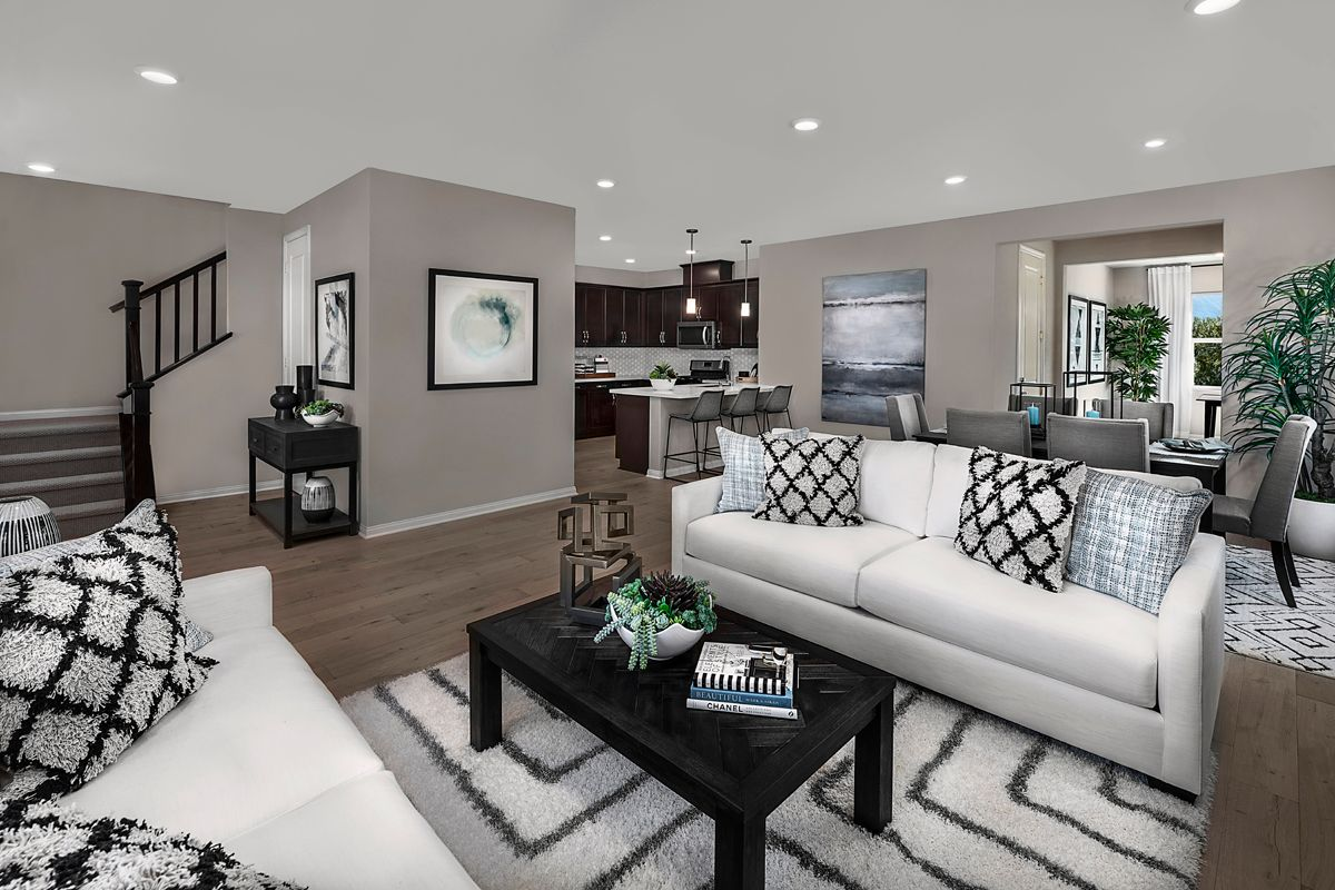 Living Area featured in the Plan 2138 Modeled By KB Home in Ventura, CA