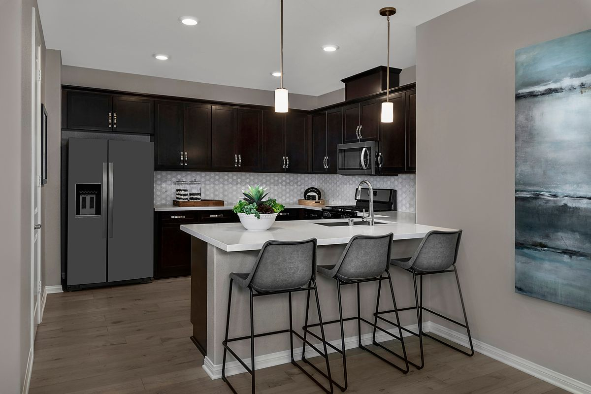 Kitchen featured in the Plan 2138 Modeled By KB Home in Ventura, CA