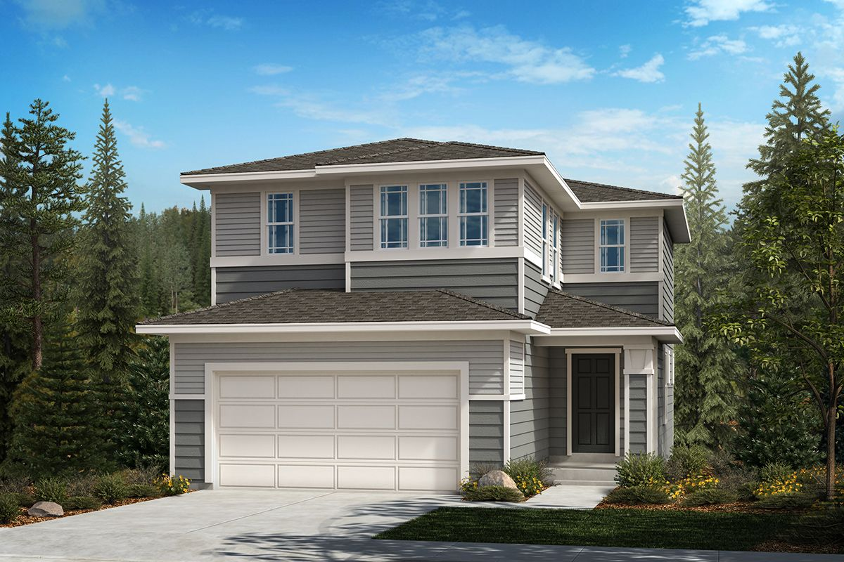 Exterior featured in the Plan 1565 By KB Home in Olympia, WA