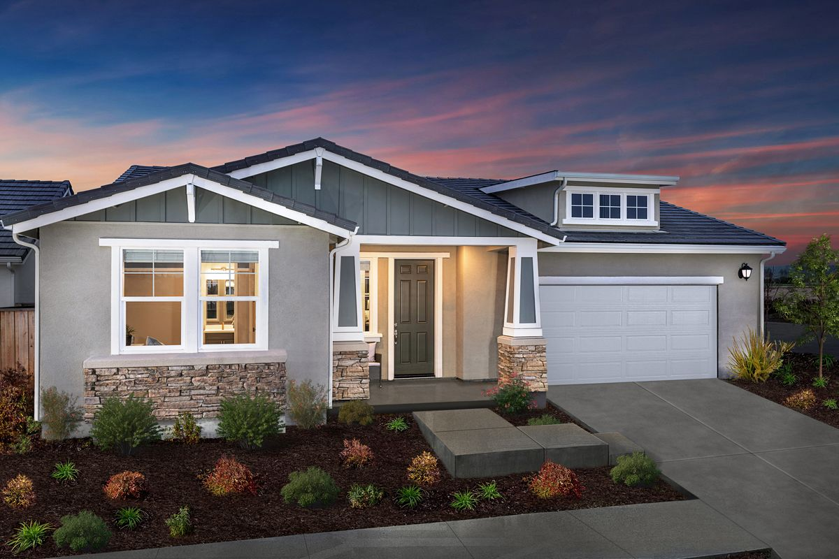 Exterior featured in the Plan 2004 Modeled By KB Home in Santa Rosa, CA