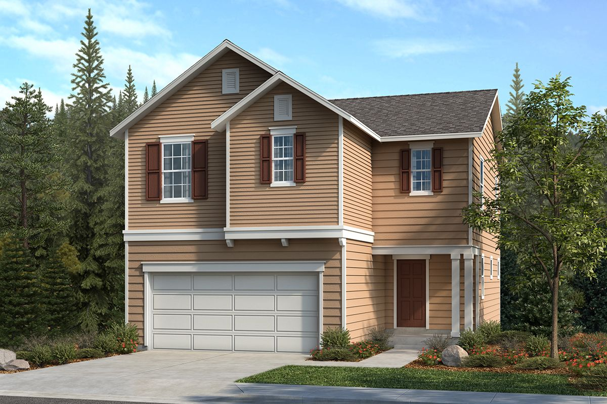 Exterior featured in the Plan 1867 By KB Home in Seattle-Bellevue, WA