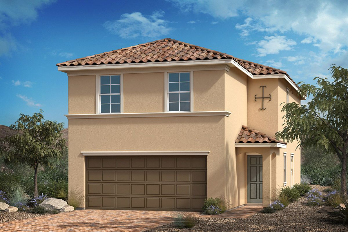 Exterior featured in the Plan 1768 By KB Home in Las Vegas, NV