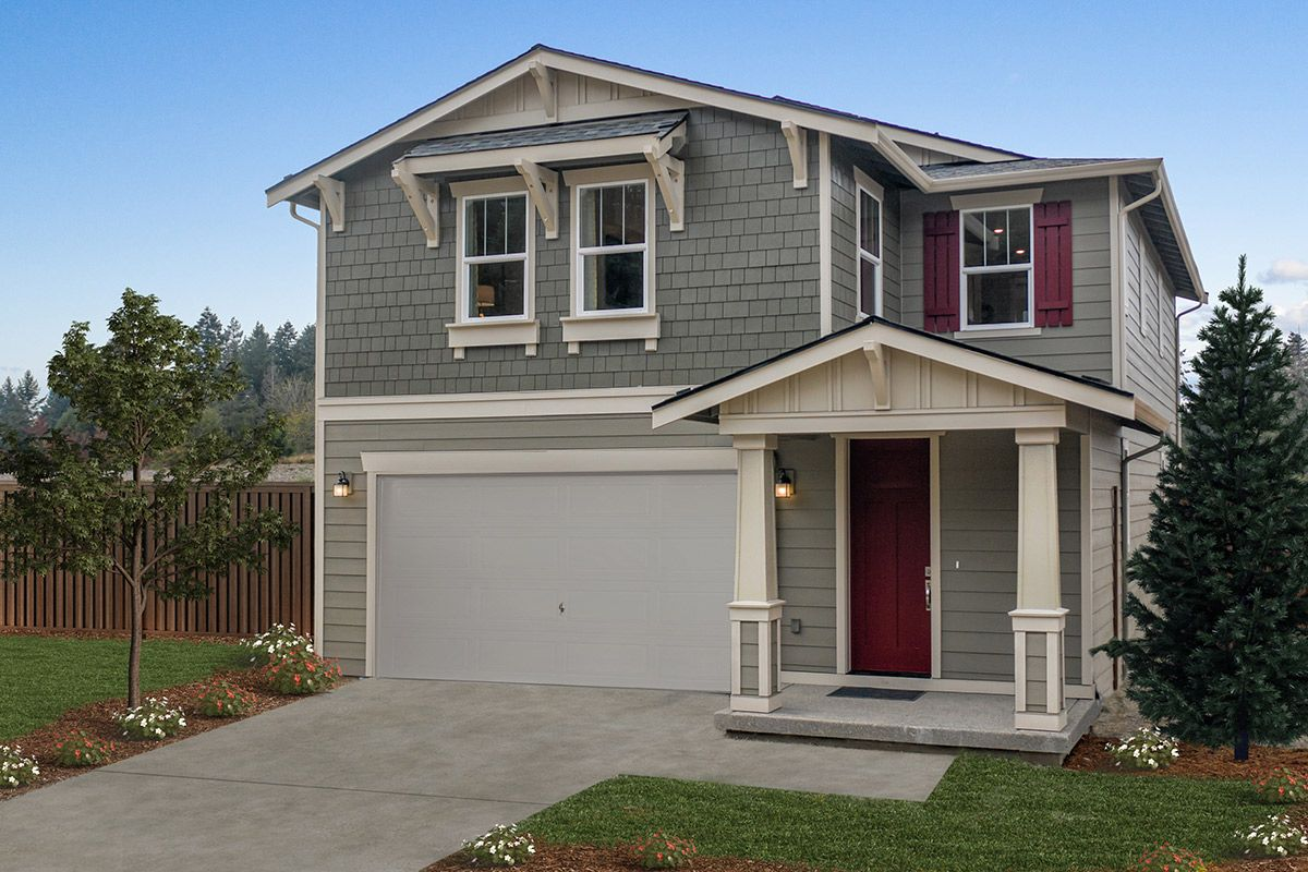 Exterior featured in the Plan 2065 Modeled By KB Home in Seattle-Bellevue, WA