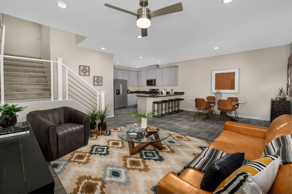 Living Area featured in the Plan 1448 Interior Unit Modeled By KB Home in Las Vegas, NV