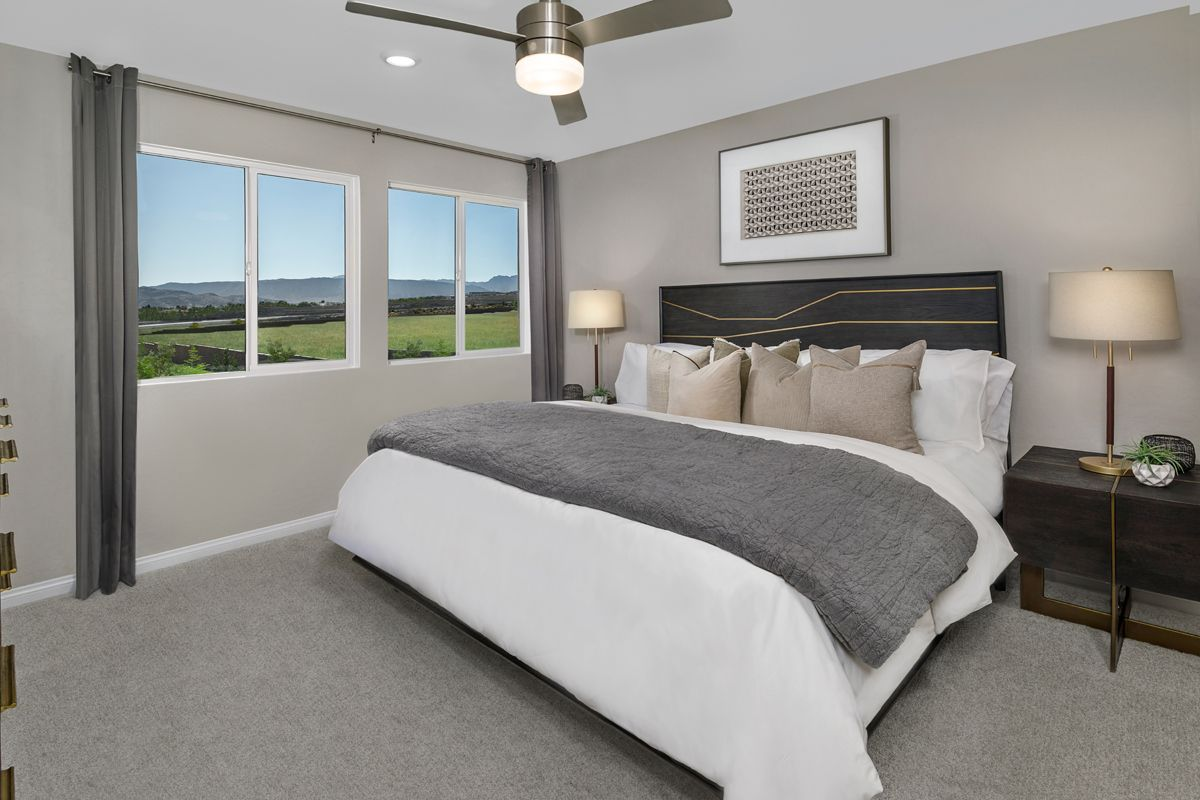 Bedroom featured in the Plan 1448 Interior Unit Modeled By KB Home in Las Vegas, NV
