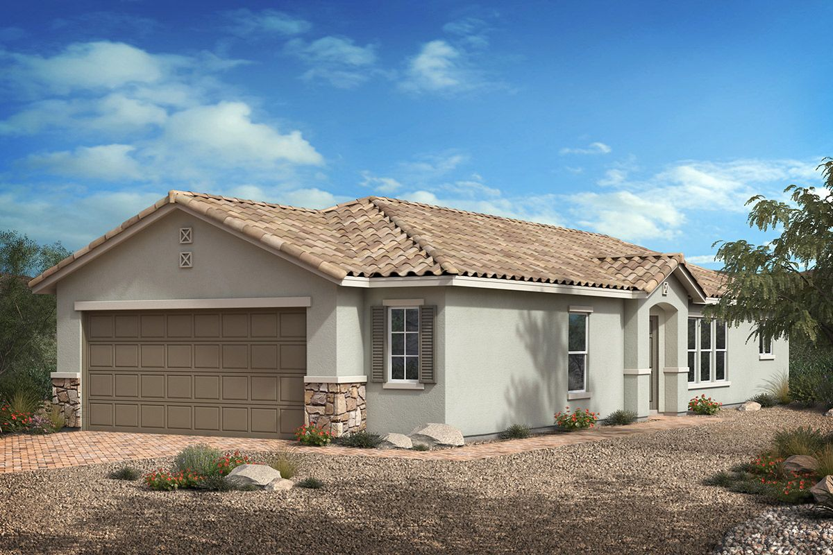 Exterior featured in the Plan 1203 By KB Home in Las Vegas, NV