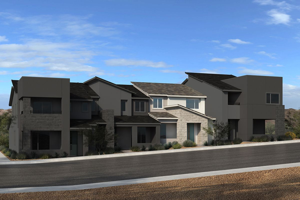Exterior featured in the Plan 1448 Interior Unit Modeled By KB Home in Las Vegas, NV