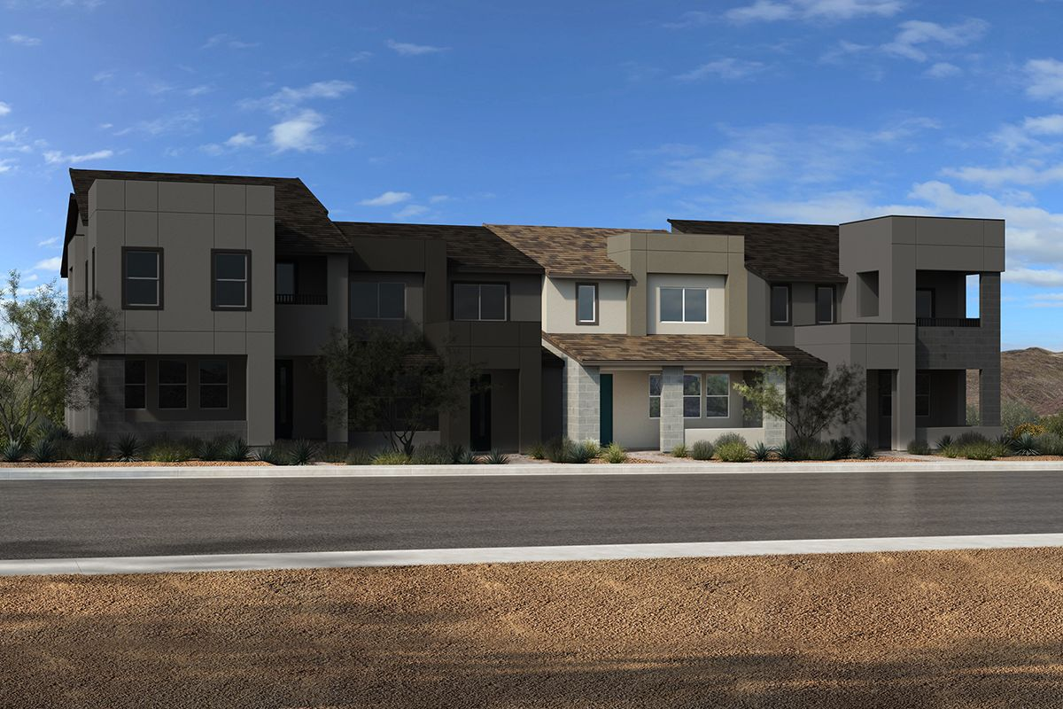 Exterior featured in the Plan 1598 Interior Unit Modeled By KB Home in Las Vegas, NV