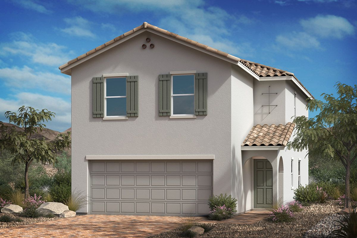 Exterior featured in the Plan 1768 Modeled By KB Home in Las Vegas, NV