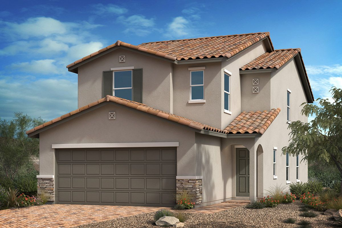 Exterior featured in the Plan 2124 By KB Home in Las Vegas, NV