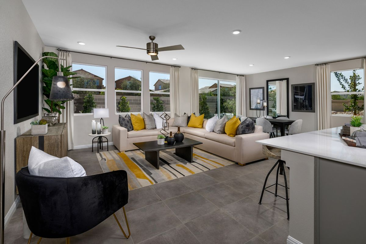 Living Area featured in the Plan 2469 Modeled By KB Home in Las Vegas, NV