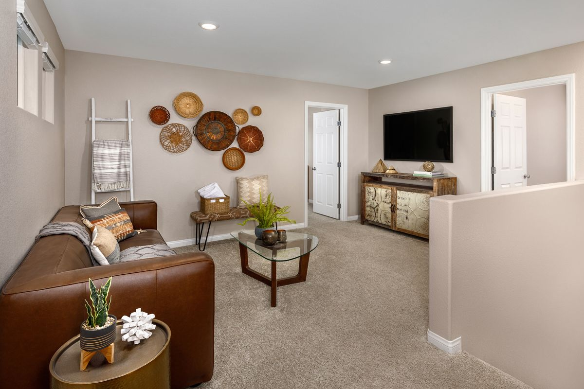 Living Area featured in the Plan 1768 Modeled By KB Home in Las Vegas, NV