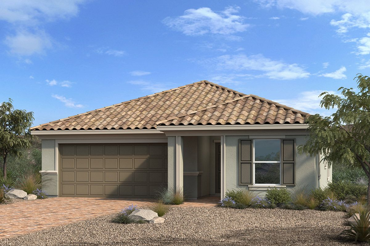 Exterior featured in the Plan 1634 By KB Home in Las Vegas, NV