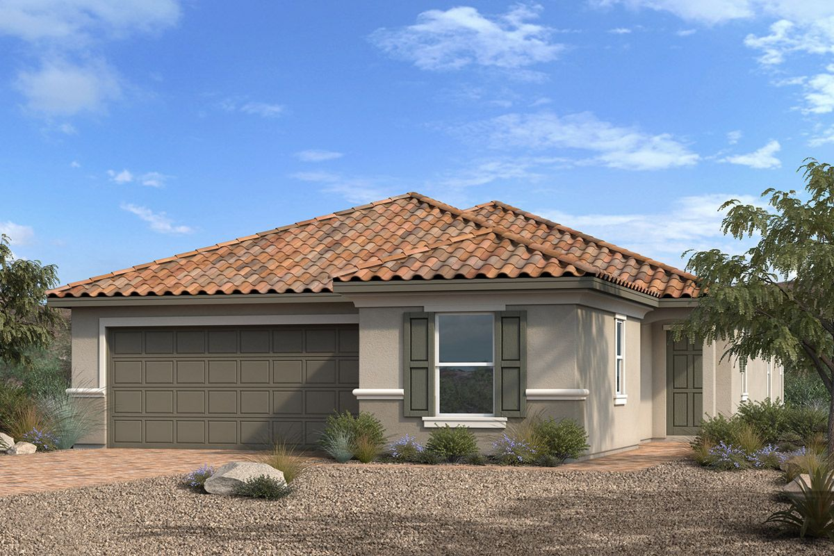 Exterior featured in the Plan 1849-X Modeled By KB Home in Las Vegas, NV