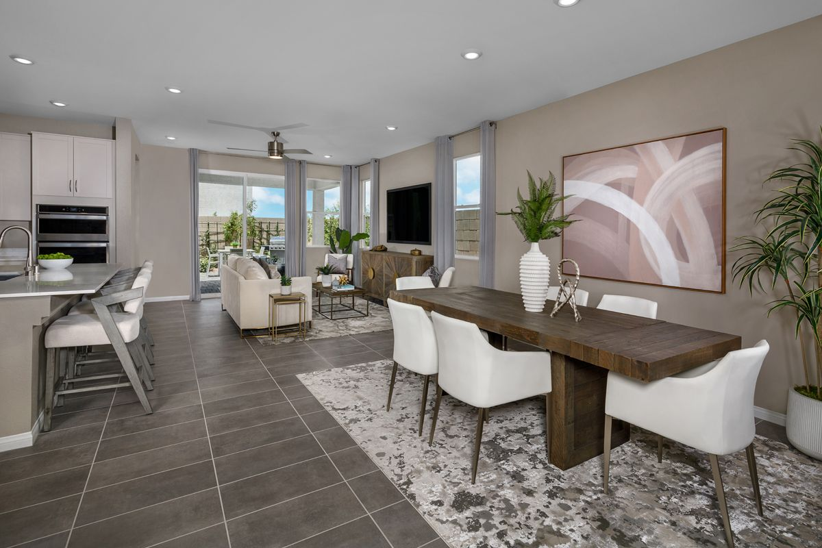 Living Area featured in the Plan 1849-X Modeled By KB Home in Las Vegas, NV