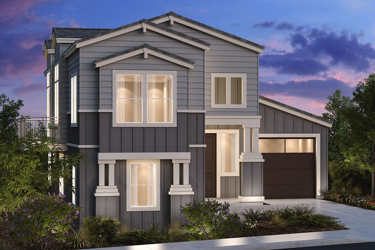 Exterior featured in the Plan 2179 Modeled By KB Home in Santa Rosa, CA