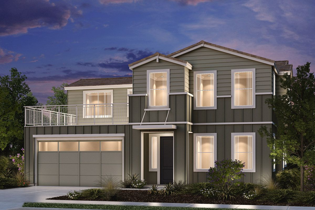 Exterior featured in the Plan 2211 Modeled By KB Home in Santa Rosa, CA