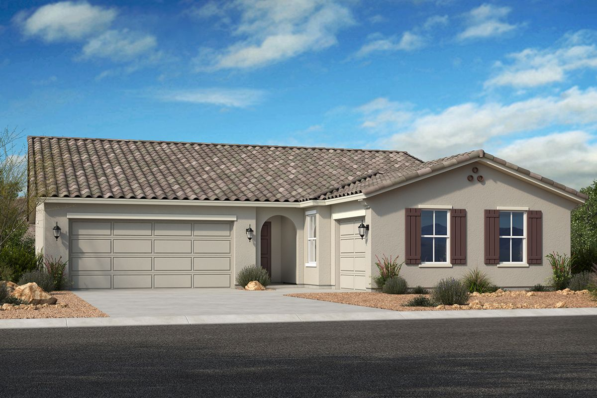 Exterior featured in the Plan 2096 Modeled By KB Home in Phoenix-Mesa, AZ