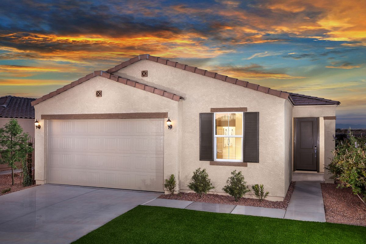 Exterior featured in the Plan 1908 Modeled By KB Home in Phoenix-Mesa, AZ