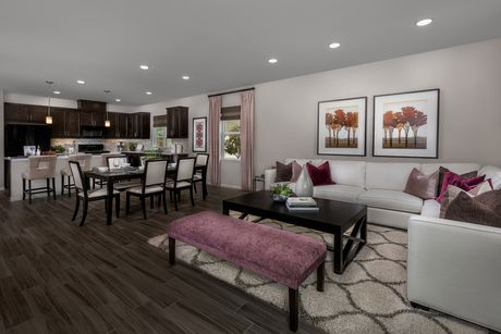 Greatroom-and-Dining-in-Residence Three Modeled-at-Monterey at Spring Mountain Ranch-in-Riverside