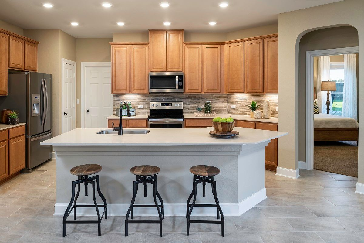 Kitchen-in-Plan 2412 Modeled-at-Sunset Hills-in-Kyle