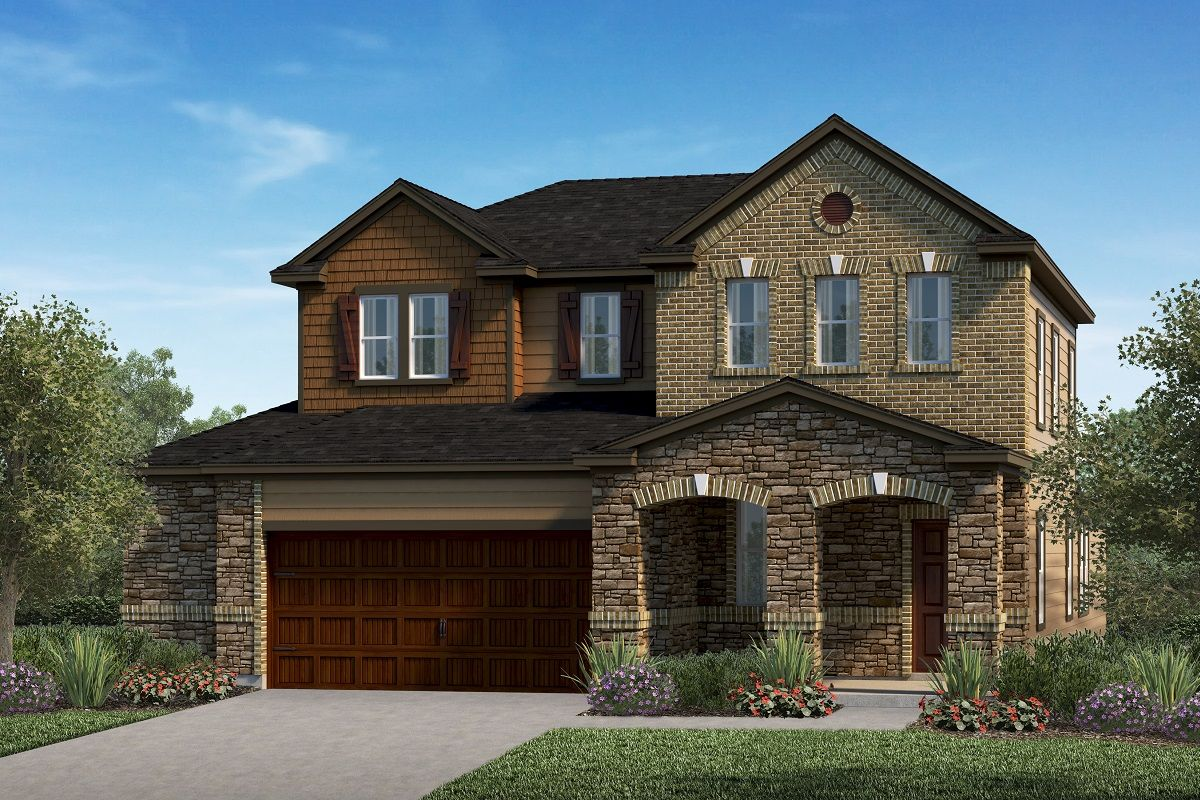 Exterior featured in the Plan 2516 By KB Home in Austin, TX