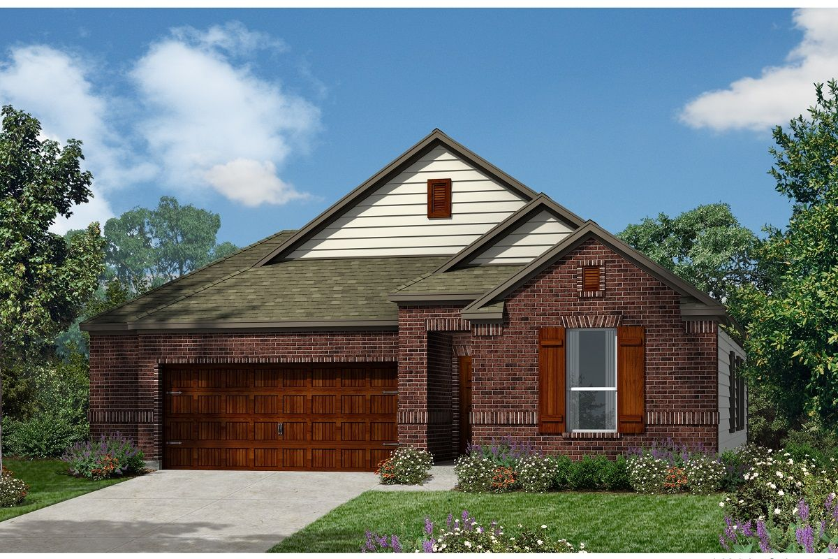 Exterior featured in the Plan 1491 Modeled By KB Home in Austin, TX