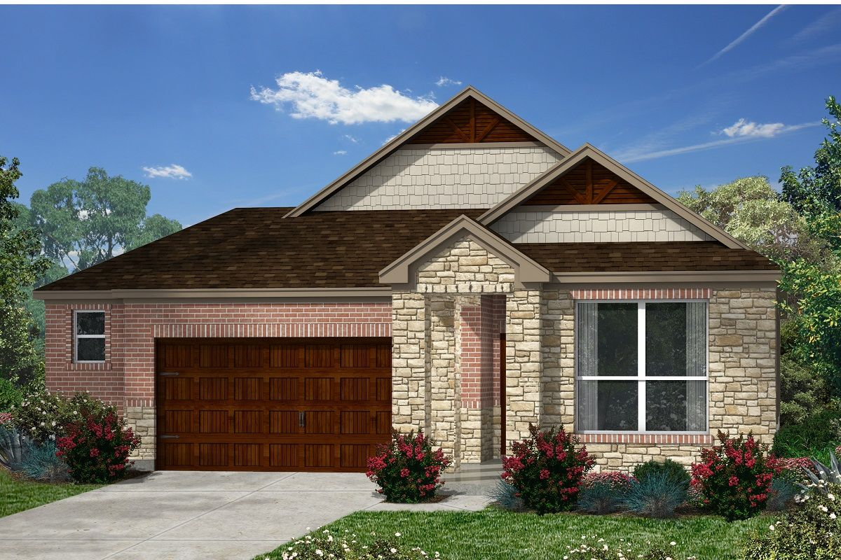 Exterior featured in the Plan 1591 By KB Home in Austin, TX