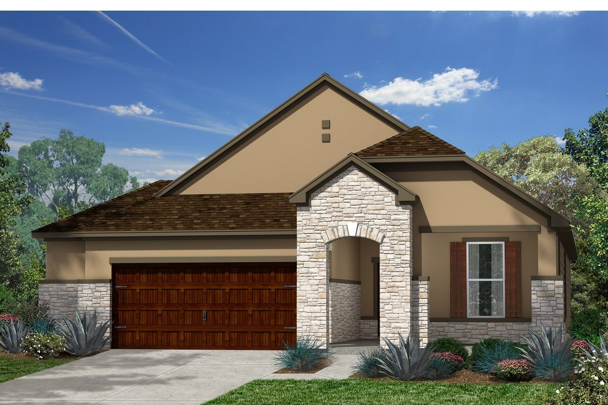 Exterior featured in the Plan 1792 By KB Home in Austin, TX