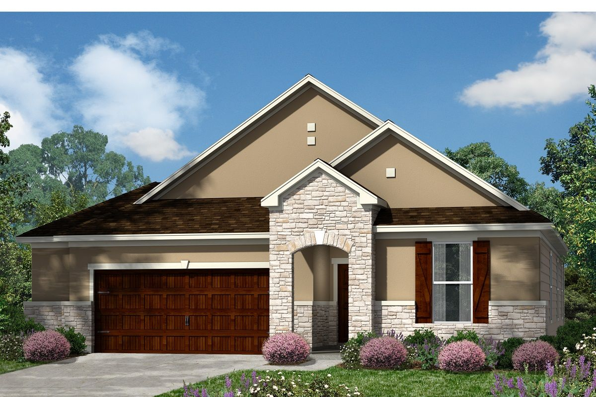 Exterior featured in the Plan 1852 By KB Home in Austin, TX
