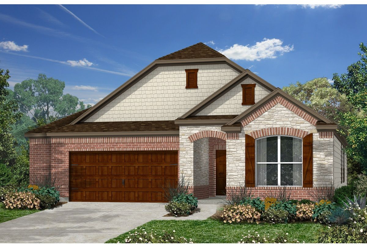 Exterior featured in the Plan 1996 By KB Home in Austin, TX