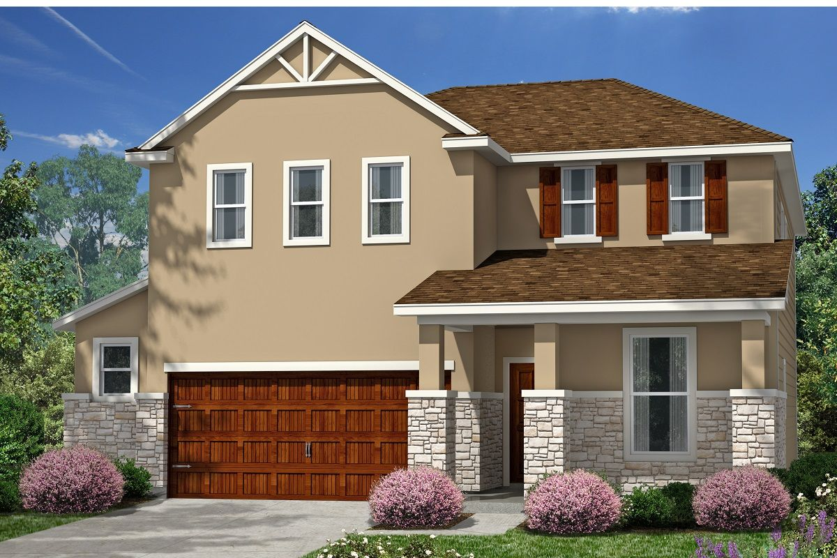 Exterior featured in the Plan 2403 Modeled By KB Home in Austin, TX