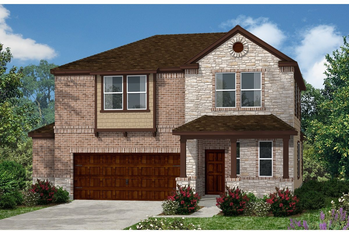 Exterior featured in the Plan 2412 By KB Home in Austin, TX