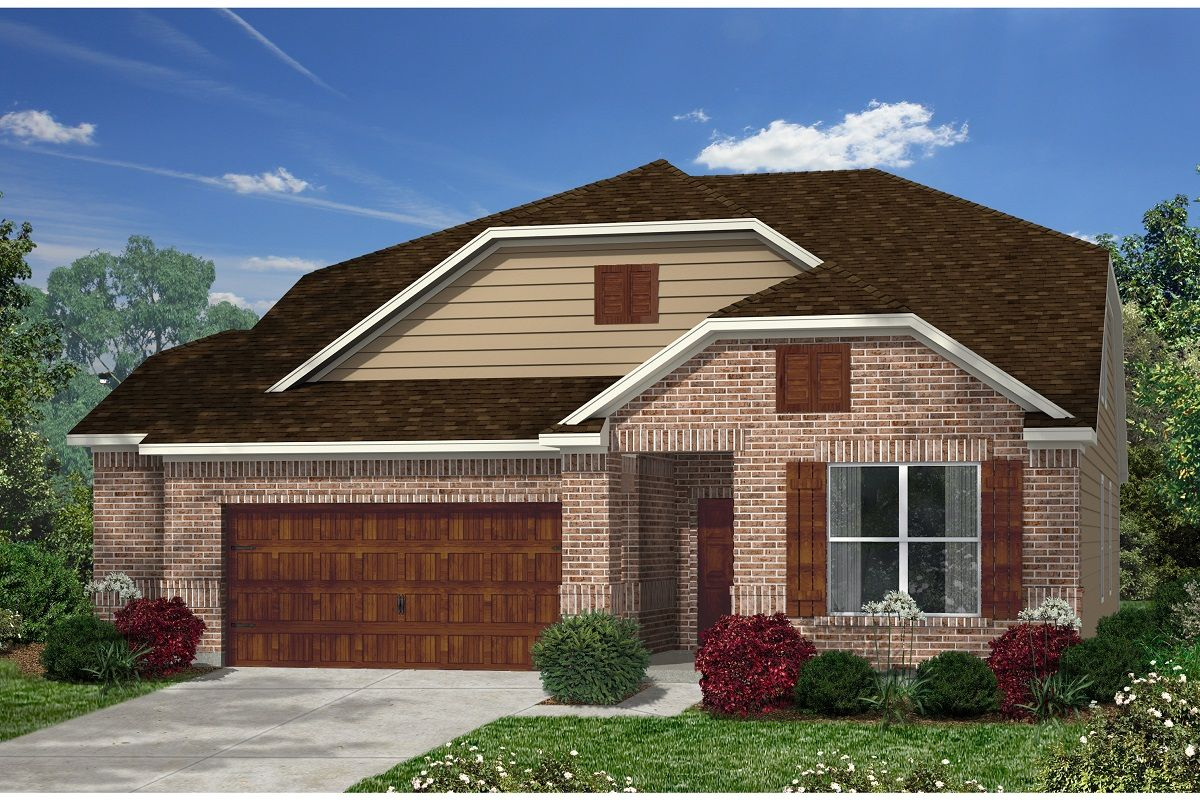 Exterior featured in the Plan 2655 Modeled By KB Home in Austin, TX
