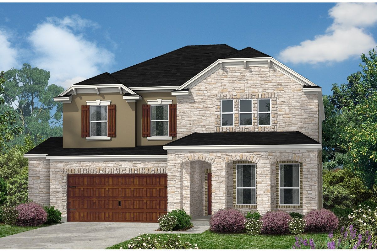 Exterior featured in the Plan 2881 By KB Home in Austin, TX