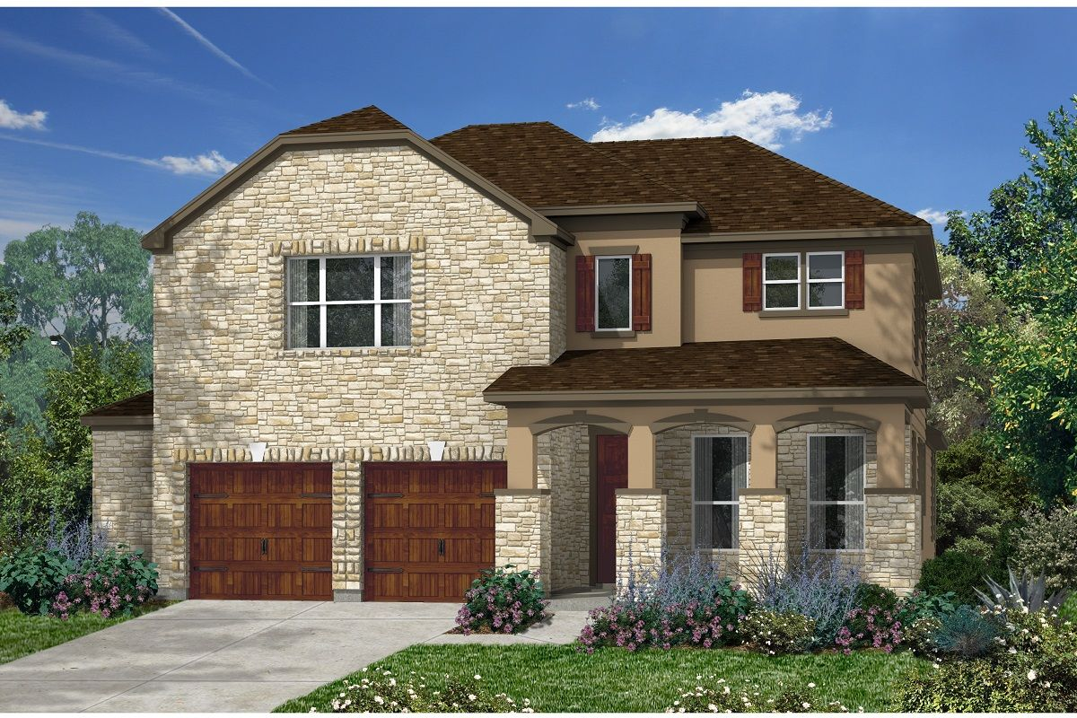 Exterior featured in the Plan 3023 By KB Home in Austin, TX